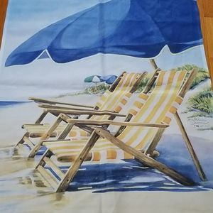 WATERS EDGE (BEACH CHAIR) GARDEN FLAG BY TOLAND